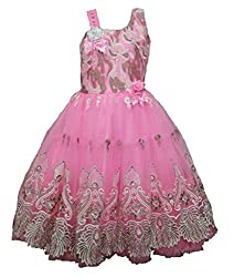 Limited Stock Beautiful Cinderella party gown for girls of age 3 to 14 Years (11-12 Years, Pink)