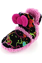Hello Kitty Girls Black Boot Slippers