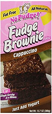 No Pudge! Fat Free Fudge Brownie Mix, Cappuccino, 13.7-Ounce Boxes (Pack of 6)
