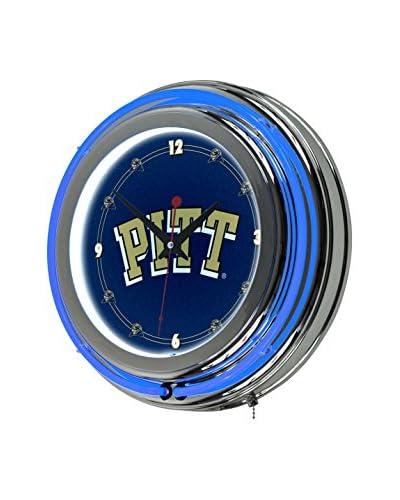Trademark Global University of Pittsburgh Neon Clock