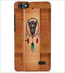 PrintDhaba Owl D-3352 Back Case Cover for HUAWEI HONOR 4C (Multi-Coloured)