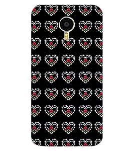 ColourCraft Heart Pattern Design Back Case Cover for MEIZU M3 NOTE