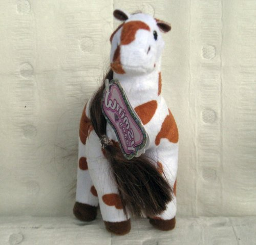 Whimzy Pets White & Brown Horse - Ariba - 1