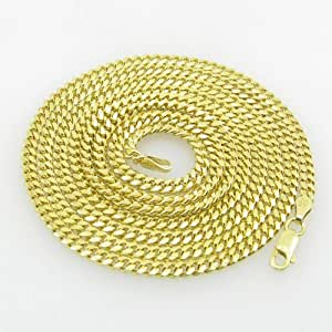 Mens .925 Italian Sterling Silver Cuban Link Chain Length - 36 inches Width - 3mm