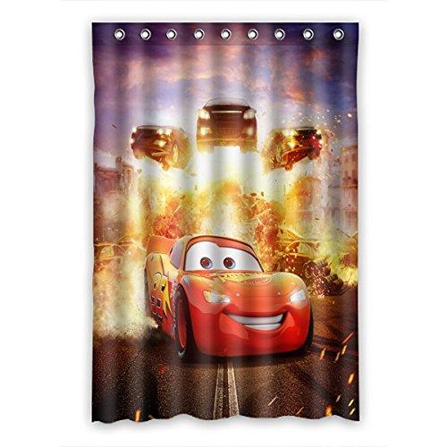 DONGMEN Customize Cars Lightning McQueen Shower Curtain Polyester Bathroom 48