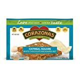 CORAZONAS Oatmeal Squares, White Chocolate Macadamia, 1.76-Ounce (Pack of 12) ~ Corazonas