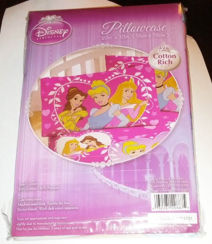 "DISNEY PRINCESSES PILLOWCASE~BRAND NEW~SEALED~MAKES A NICE GIFT~20"" x 30"""