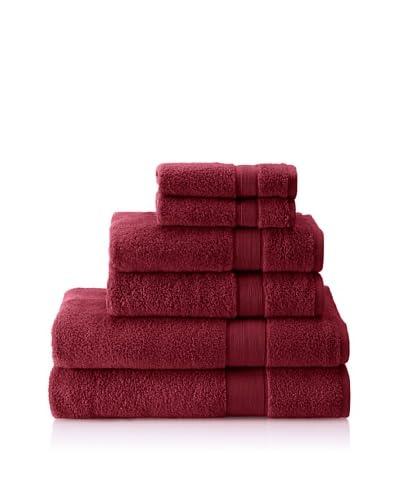 Cobra Trading 6-Piece Signature Terry Towel Set, Berry