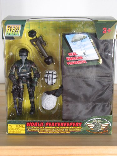 Buy Low Price Power Team Power Team Elite World Peacekeepers Military Parachute Trooper Playset! Figure (B000X61RBW)