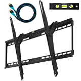 "CHEETAH MOUNTS PLASMA LCD TV TILT WALL MOUNT FOR LARGE DISPLAYS 32""-65"" AND VESA 800 DISPLAYS BLACK by Cheetah Mounts"