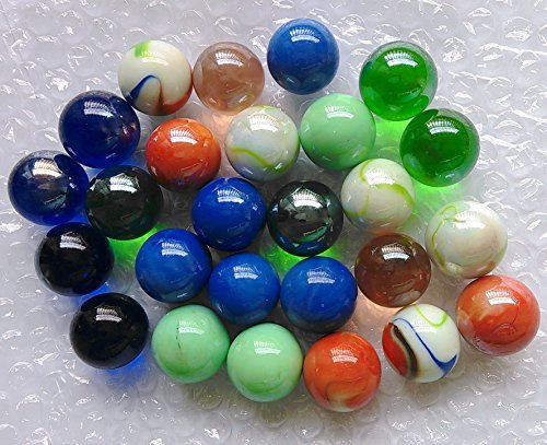 "Qich® 12pieces assorted color 1"" shooter marbles"