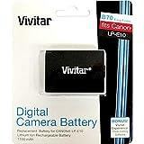 Vivitar LP-E10 Battery for Canon REBEL T3 T5 T6 EOS 1100D 1200D 1300D