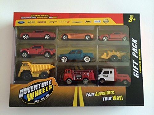 Adventure Wheels Gift Pack 9 Assorted Die-cast Vehicles