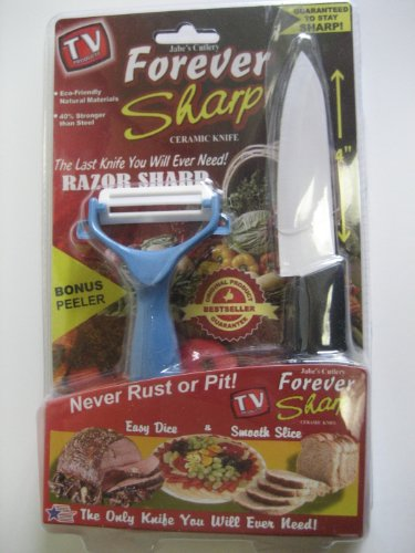 Forever Sharp Ceramic Knife & Bonus Peeler