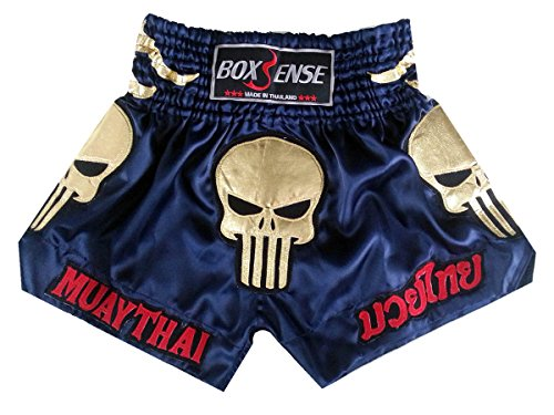 Boxsense-Muay-Thai-Kick-Boxing-Shorts-BXS-302-Navy