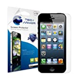 Tech Armor iPhone 5 Premium High Definition (HD) Clear Screen Protector [3-Pack] - Retail Packaging