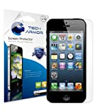 Image of Tech Armor iPhone 5 Premium High Definition (HD) Clear Screen Protector [3-Pack] - Retail Packaging