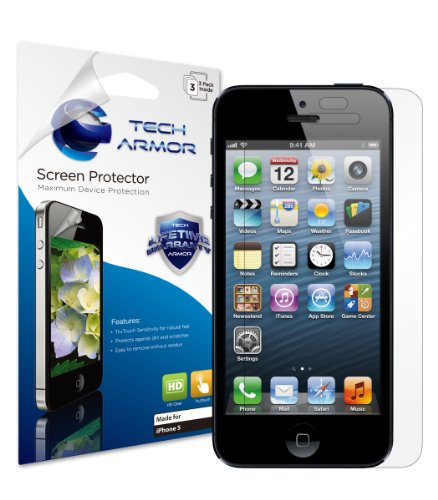 Tech Armor iPhone 5 Premium High Definition (HD)