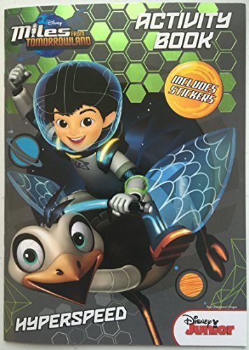 Disney Junior Miles from Tomorrowland Hyperspeed Coloring and Activity Book - Includes Stickers - 1