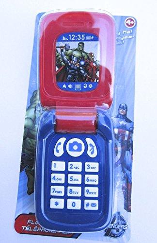 Marvel Avengers Flip Phone Toy Cell Phone - 1