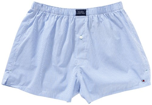 Tommy Hilfiger Classic Woven Boxer With Fly Men's Boxers China blue/multi Large