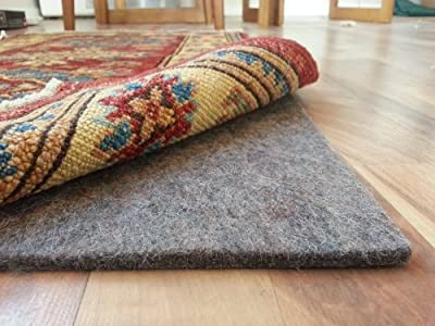 100% Felt Rug Pad - SAFE for all floors - Extra Thick - Add Cushion, Comfort and Protection