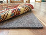 100% Felt Rug Pad - SAFE for all floors - Extra Thick - Add Cushion, Comfort and Protection (8' x 10')