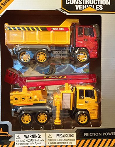 Construction Vehicles Engineering Series 2 PCs Truck & Crane Truck by Power Friction