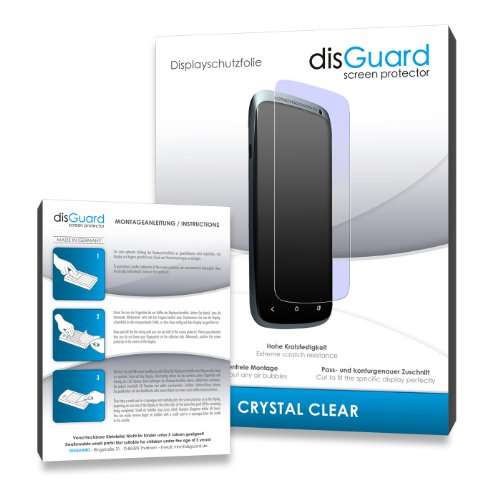 2 x disGuard Crystal Clear Displayschutzfolie f&#252;r Philips SA2VBE04K02 ViBE 4GB - Displayschutz &quot;kristallklar&quot; - PREMIUM QUALIT&#196;T (Hartbeschichtet, Blasenfreie Montage, R&#252;ckstandsfrei entfernbar)