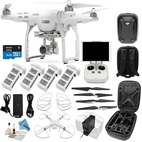 DJI Phantom 3 Advanced Bundle - w/ eDigitalUSA EVERYTHING YOU NEED KIT Includes Phantom Hard Shell Case - 4 Batteries + Charging Hub (Charges 4 Batteries At Once) and more...