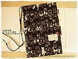ほぼ日手帳対応カバーカズンサイズ A5手帳カバー 手書き風ねこ 猫 黒猫