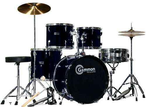 black-drum-set-for-sale-with-cymbals-hardware-and-stool-new-gammon-5-piece-kit-full-size