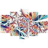 Artezy 5 Panels Canvas Abstract Print Wall Art For Home Décor (Medium)