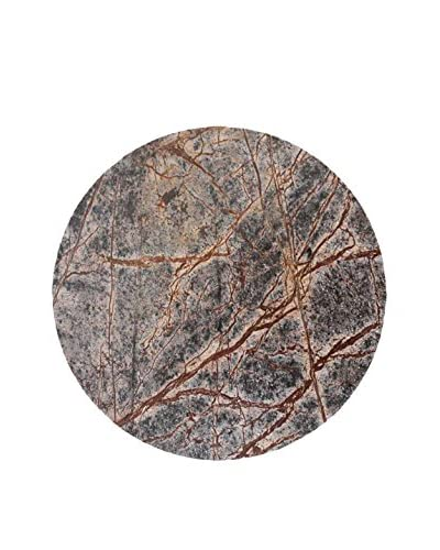 Be Home Large Forest Marble Round Platter, Multi