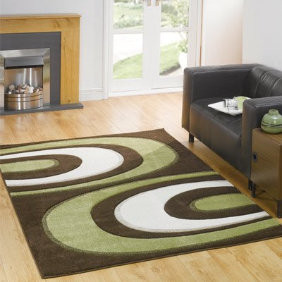 Monte Carlo Hunch Rug, Brown/Green, 120 x 160 Cm