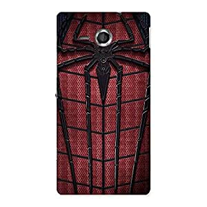 Ajay Enterprises Clothing Webs Red Back Case Cover for Sony Xperia SP