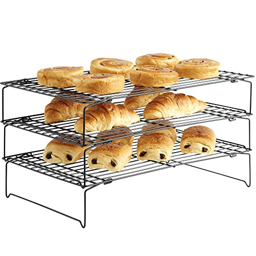 vonshef-3-tier-stackable-cooling-rack-tray-system-non-stick-free-2-year-warranty