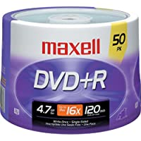 DVD R 4.7GB 16x Write-Once Recordable Disc Spindle Pack Of 50 And Free 6 Feet Netcna HDMI Cable - By NETCNA