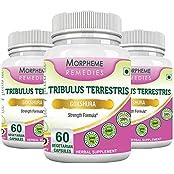 Morpheme Tribulus Terrestris 500mg Extract - 60 Veg Caps - 3 Bottles