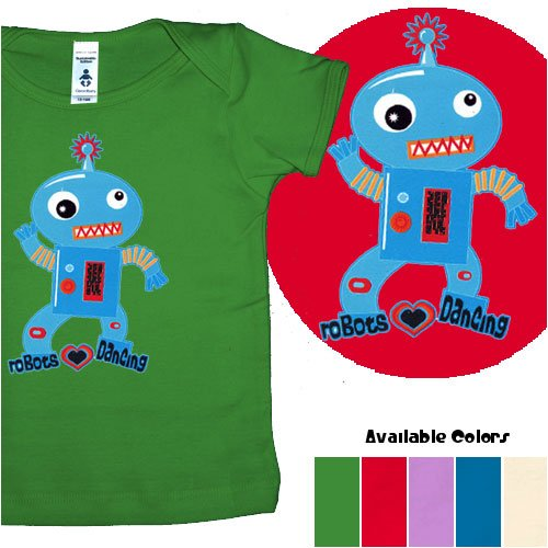 Robots Love Dancing organic cotton infant shirt - Buy Robots Love Dancing organic cotton infant shirt - Purchase Robots Love Dancing organic cotton infant shirt (FocoLoco, FocoLoco Apparel, FocoLoco Toddler Boys Apparel, Apparel, Departments, Kids & Baby, Infants & Toddlers, Boys, Shirts & Body Suits, T-Shirts & Tank Tops)