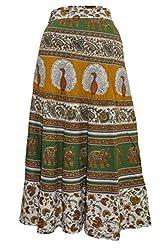 PMS Cotton Multi Color Wrap Around Skirts