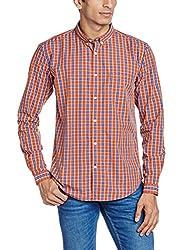 Basics Men's Casual Shirt (8907554050814_16BSH34099_Medium_Orange)