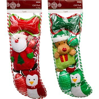 PETCO Holiday Dog Toy Large Stocking Gift Pack