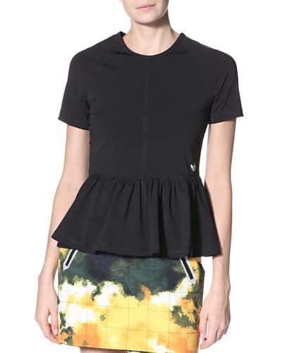 adidas Originals x Opening Ceremony Women's Peplum Short Sleeve Tee Shirt