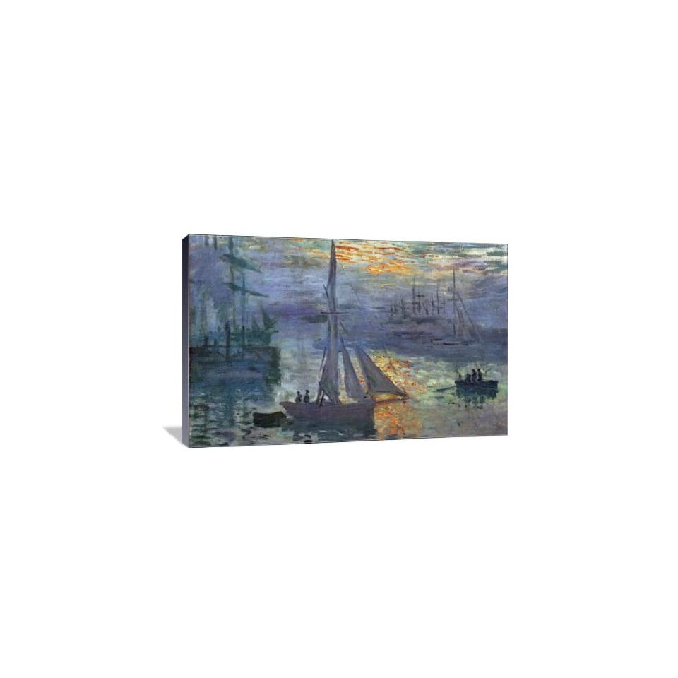 Sunrise at Sea   Gallery Wrapped Canvas   Museum Quality  Size 36 x 24 by Claude Monet