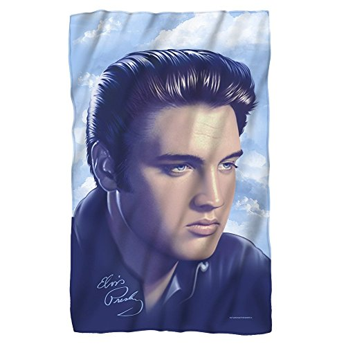 Portraiture -- Elvis Presley -- Fleece Throw Blanket
