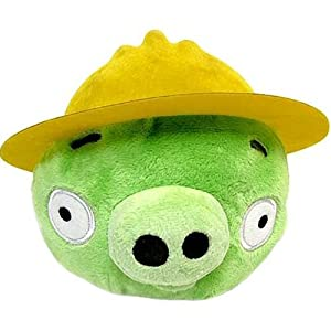 Angry Birds Plush 6-Inch Pig with Construction Hat