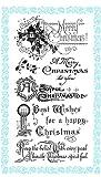 クリスマスの挨拶 - クリスマスの願い ~ クリアスタンプ (9x18cm) // Christmas Greetings - Wishes on Christmas ~ Clear stamps pack (9x18cm) FLONZ