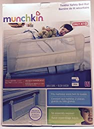 Munchkin Safety Toddler Bed Rail, White/Gray