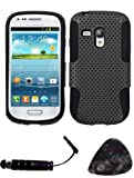 SAMSUNG G730A (Galaxy S III mini) Grey Black Astronoot Phone Protector Cover AND TrustedSellers(TM) Stylus, Guitar Pick/Pry Tool Design Snap on Hard Shell Faceplate